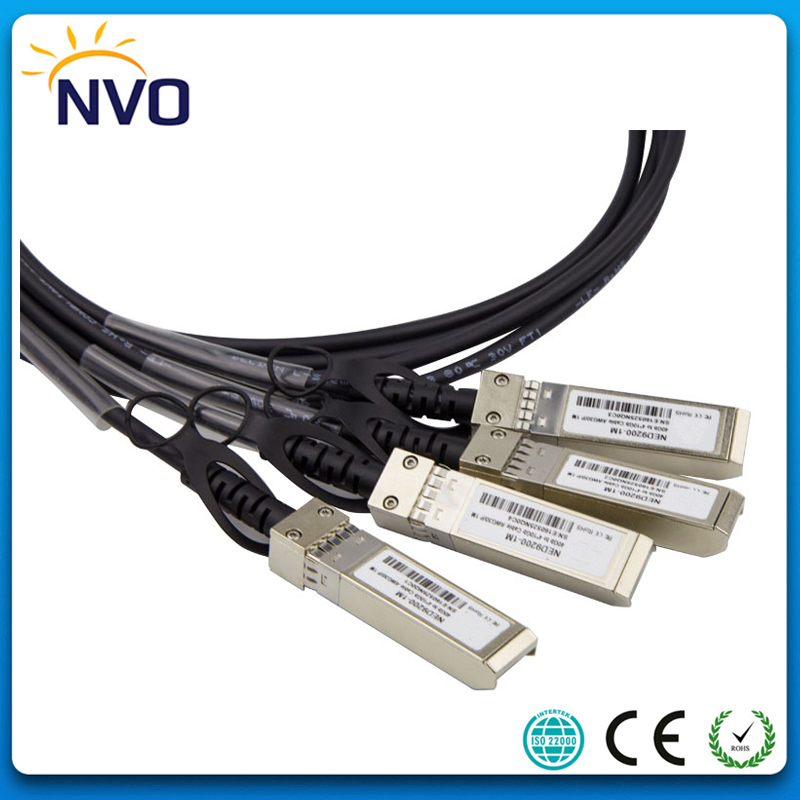 40G QSFP-4SFP+ 28AWG 5M Passive Copper Direct Attach Cable,QSFP to 4SFP+ DAC Copper Twinax Direct Attach Cable