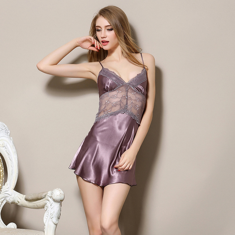 Sexy underwear women sexy font b lingerie b font ladies lace transparent conjoined dress suit erotic