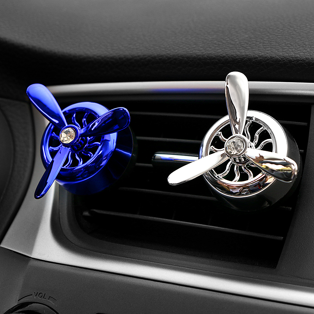 Car Ornament ABS Air Force 3 Propeller Aroma Perfume Diffuser Automobiles Decoration Vents Outlet Fragrance Clip Air Freshener warmtoo practical car engine styling air freshener air conditioning perfume vent outlet brown for auto decoration air force