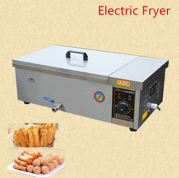 1PC YF-25 deep fryer pot,Commercial Household Stainless Steel Potato chips Deep Fry Machine,Chicken Frying Machine fast food leisure fast food equipment stainless steel gas fryer 3l spanish churro maker machine