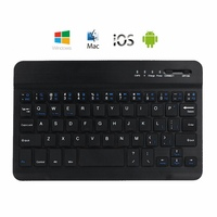 Ultra Slim Aluminum Bluetooth Keyboard For IOS Android Windows PC Working Time 40 hours 59 keys Quality