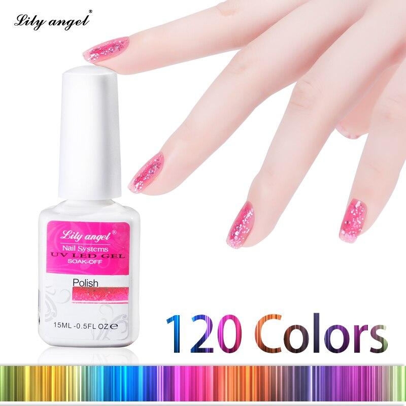 Lelie engel 15ML / pc LED UV Nail Gel Polish Nail Art Salon Gelpolish - Nagel kunst - Foto 2