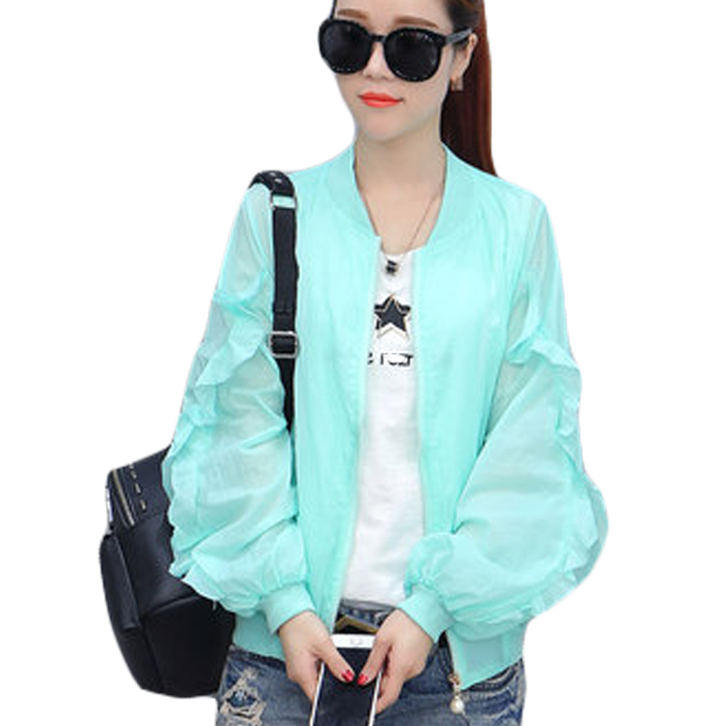 2017 verano mujer manga larga clothing anti uv protector solar ligero de secado