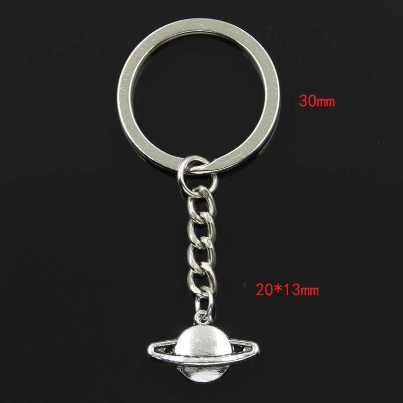 Nieuwe Mode Sleutelhanger 20X13 Mm Planeet Saturnus Spark Hangers Diy Mannen Sieraden Auto Sleutelhanger Ring Houder Souvenir voor Gift