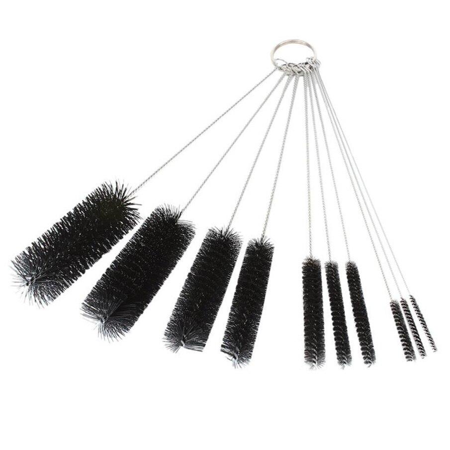ISHOWTIENDA New 10PC Black Coloe Multi-Functional Tools Brush Spray Brush Pots Bottle Liquor Cleaning Tools Brush Set On Sale