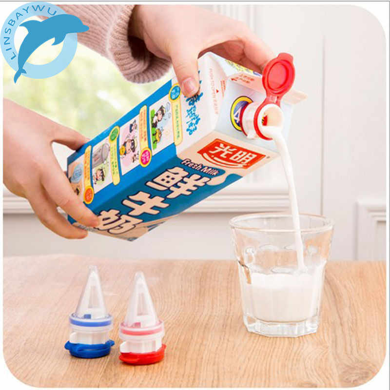 Nice Mini Box Drinks Diverter With Cover Milk Beverage Extension Mouth Baby Safe Anti-sprinkling Extension Mouth Tools