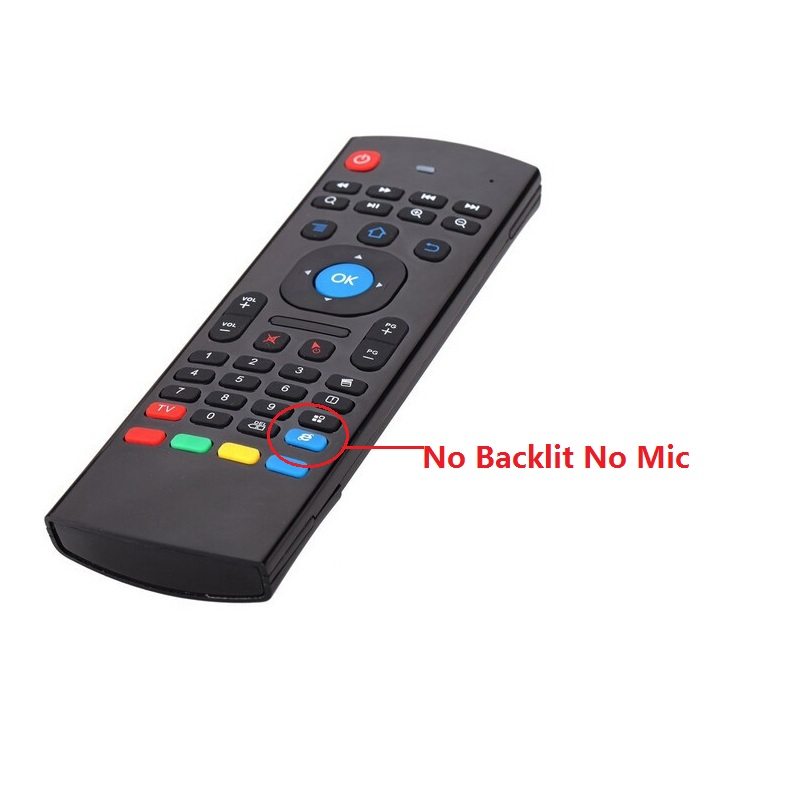 MX3 2.4G Kodi Remote Backlit and mic Mini Wireless Keyboard Air Mouse for Android TV Box IPTV HTPC Mini PC 10pcs/lot