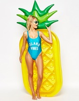 Inflatable Floating Adults Kids Pineapple Swimming Pool Floats Air Mattress Inflatable Beach Bed Water Boat Toys Boat