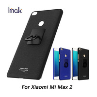For Xiaomi Mi Max 2 Case IMAK 360 Degree Rotated Ring Buckle PC Hard Case Phone