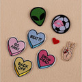 Love Small Patch Computer Embroidery Hand Sewing Ironing Sticker On Cloth Garment Hat Bag Accessories NO.927