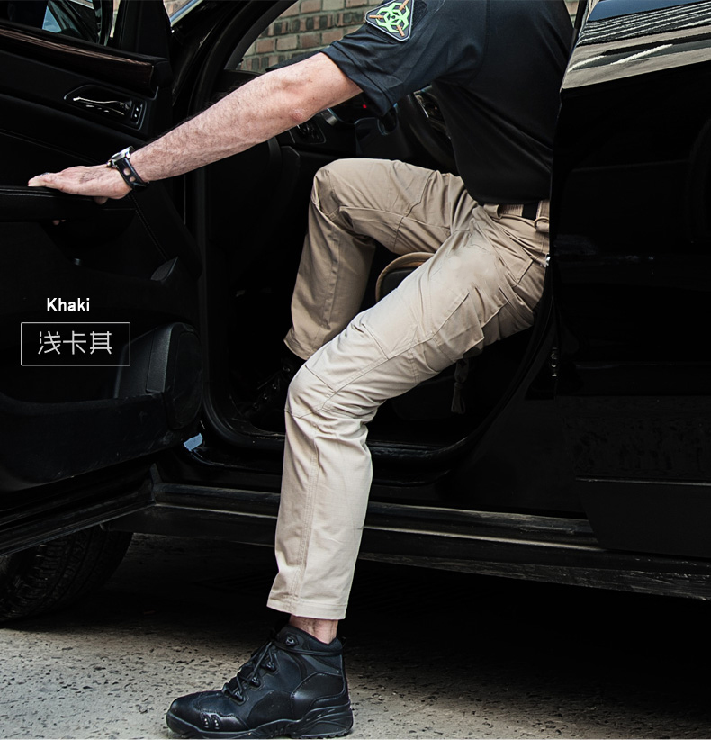 5xl caminhadas calças de algodão durável bolsos