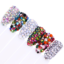 1Pack Mix Crystal Clear AB Opal White Non Hotfix Flatback Nail Rhinestones  Chameleon 3D Charm Strass f598c60b5f5b