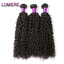 Lumiere Hair Malaysian Kinky Curly Hair 100% Human Hair Weave Bundles 10″-28″ Non Remy Hair Extensions 1 Piece Free Shipping