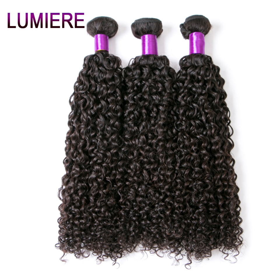 """Lumiere Hair Malaysian Kinky Curly Hair 100% Human Hair Weave Bundles 10""""-28"""" Non Remy Hair Extensions 1 Piece Free Shipping"""