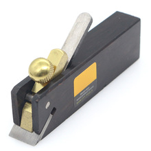 Black Mini Wood Hand Plane Easy Operated Ebony Woodworking Tool Durable Angle Thread Plane Tool Violin Making Carpenter Tool