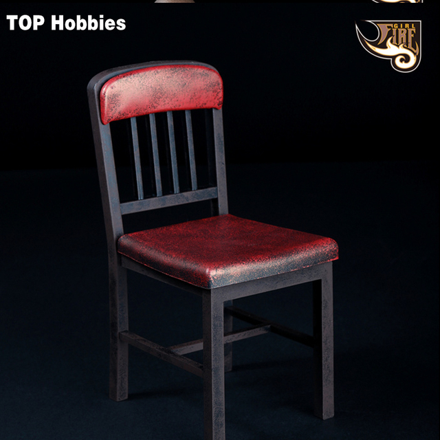 FG013 Rusty Fire Girl Toys 1/6 Action Figure Toys Metallic Color Chair ABS  Assembled