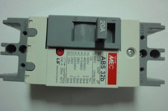 [ZOB] ABS 32B 20A interrupteur de disjoncteur d'air ABS 32B--2PCS/LOT