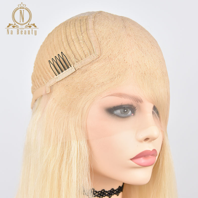 HTB1iW2tPbPpK1RjSZFFq6y5PpXas 613 Short Bob Wigs 1B 613 Ombre Honey Remy Pre Plucked Straight 13x6 Blonde Lace Front Human Hair Wig for Women Natural Black