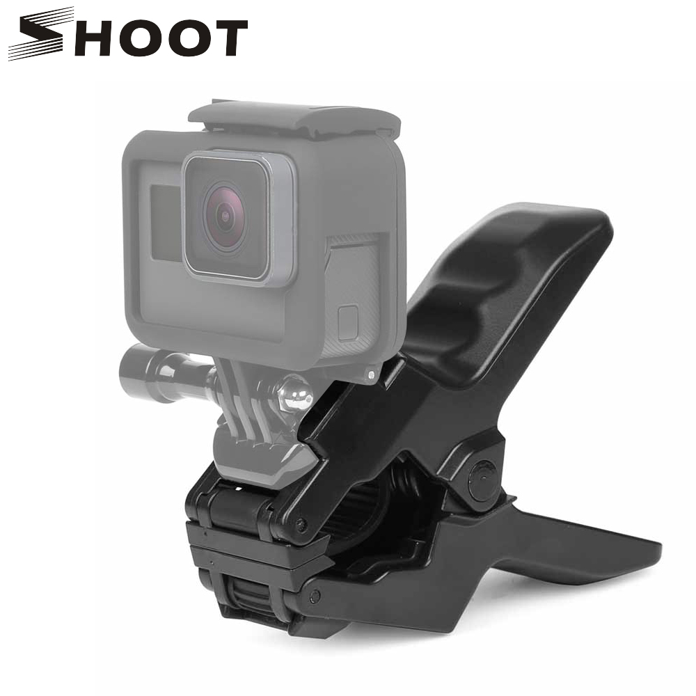 SHOOT Jaws Flex Clamp Mount For GoPro Hero 6 4 5 Xiaomi Yi 4K SJCAM SJ5000 SJ7 H9 With Bucket Tripod Holder for Go Pro Accessory