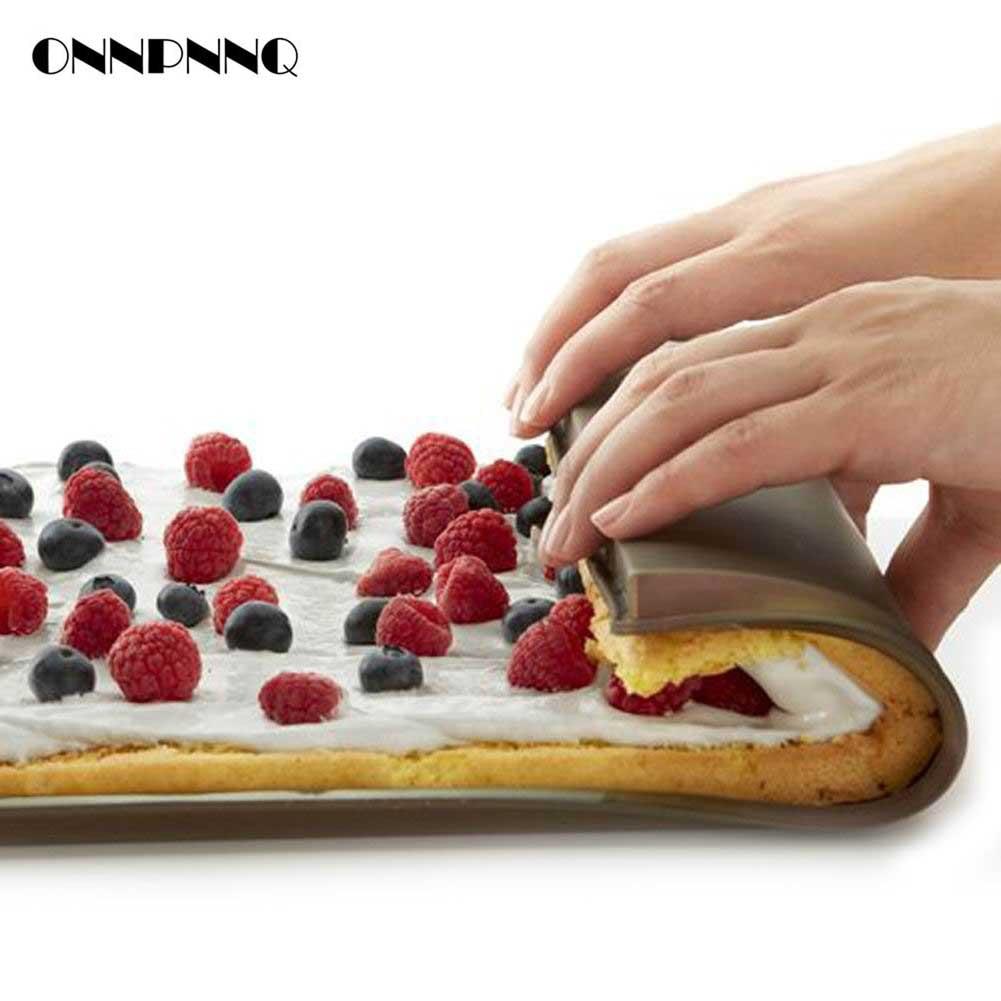 Piros Hasznos Nonstick Sütőeszközök Szilikon sütő Pad konyha - Konyha, étkező és bár