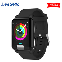Diggro E04 Smart Watch Men Fitness Tracker ECG/PPG Blood Pressure Heart Rate Monitor IP67 Waterproof Smart Band for ios Android