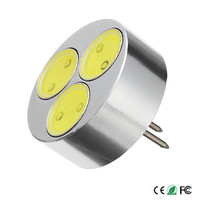 10Pcs/lot High quality DC12V G4 LED Bulb 5W 3 COB Chips LED Lamps Bulbs Replace 60W incandecent light
