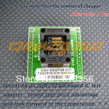 OTS-20-0.65-01 adapter CNV-SSOP20-DIP Programmer TSSOP20 to DIP20 IC Test Socket foot spacing 0.65mm