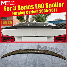 For BMW E90 M4 Style Forging Carbon Trunk Spoiler Wing 3 Series Sedan 318i 320i 323i 325i 328i 335i Add on Look Rear Wings 05-11 цена