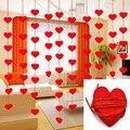 5 Juegos (80 piezas) 2 tamaño corazón Garland con 3 m encanto DIY cortina fieltro no tejido para la fiesta de la boda Inicio de San Valentín decoración