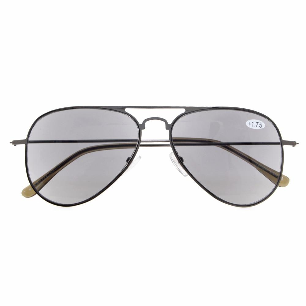 20c9b41fd3 RS15018 Eyekepper los lectores clásica marco de acero inoxidable estilo  piloto gafas de lectura y de lectura gafas de sol + 0,50 + 4,00 en De los  hombres ...