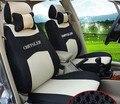 Серый/красный/бежевый/синий Вышивка логотипа Автомобиля Сиденья Передние и Задние Сиденья в сборе Для CHRYSLER 300C 200C чехлы на сиденья Четыре Сезона