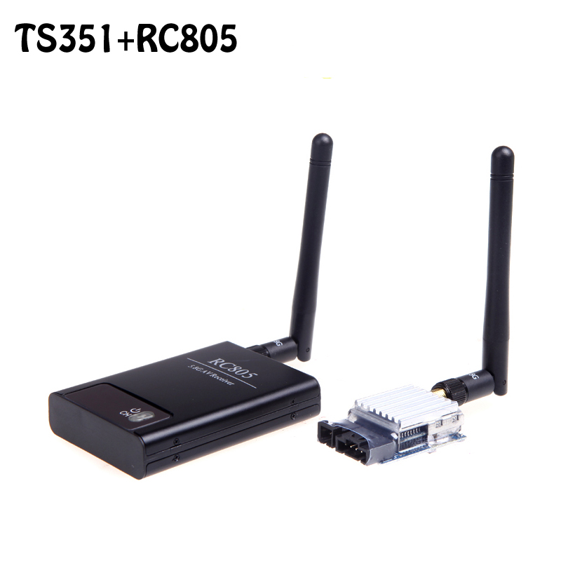 OCDAY Boscam 5.8G FPV 200mW 2KM Range AV Wireless Transmitter TX 5.8GHz Rx Receiver TS351+RC805 Kit High Quality boscam dv01s fpv 8 channel 5 8g wireless receiver dvr wireless audio