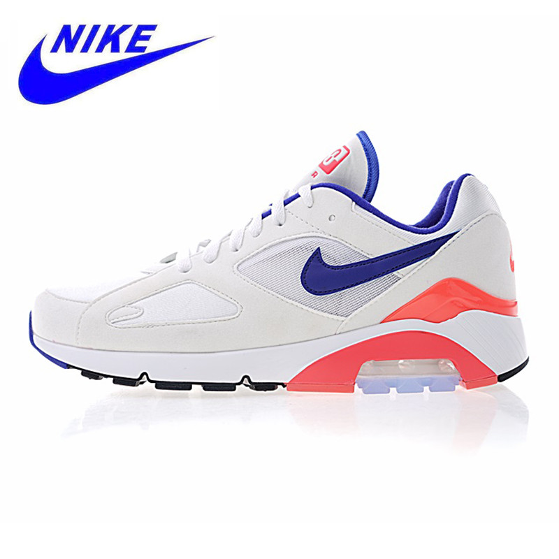 new product 8d362 b06a7 Nike Air Max 180 Ultramarine OG Men s and Women s Running Shoes,Shock  Absorbing Breathable White   Blue   Pink,615287 100