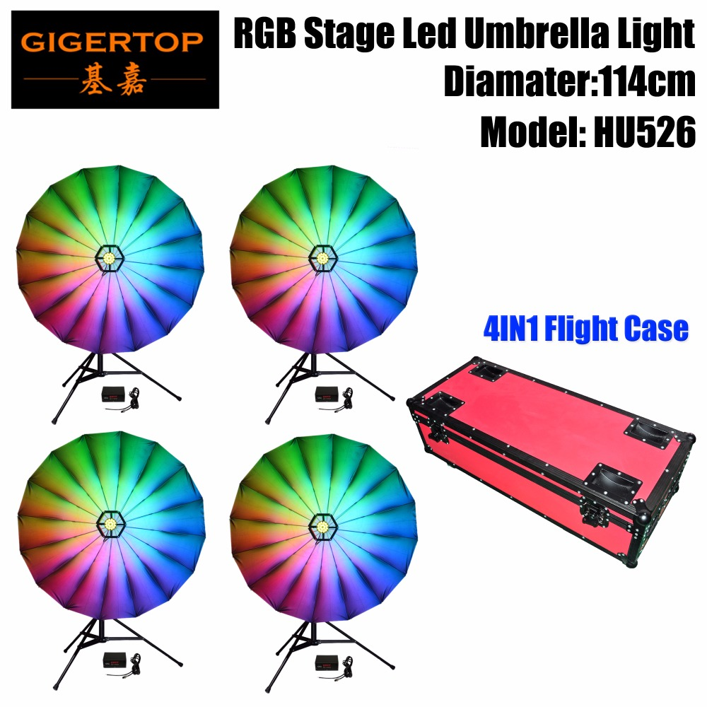 Delicious Good Quality Tp-hu526 114cm 12w 114x0.2w Rgb Stage Umbrella Light 7 Color Changing 6/24 Channels 4 Digit Led Display Box 25 Inch Complete In Specifications Commercial Lighting