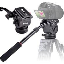 JIEYANG 2016 Professional JY0506 video tripod fluid head monopod DSLR Camcorder Panoramic head Adjustable handle