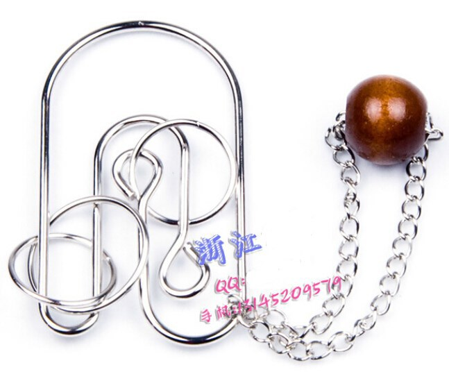 Classic Metal Wire String Ball Puzzle Brain Teaser IQ Test ...