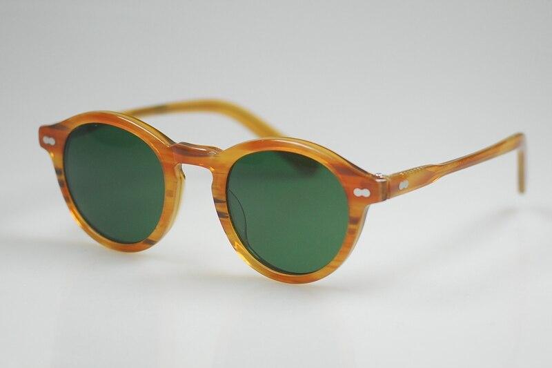 8aed8dbb58 2016 brand Retro Vintage eyeglasses frames Johnny sunglasses blonde frame  green glass round lenses women sunglasses with box-in Sunglasses from  Apparel ...