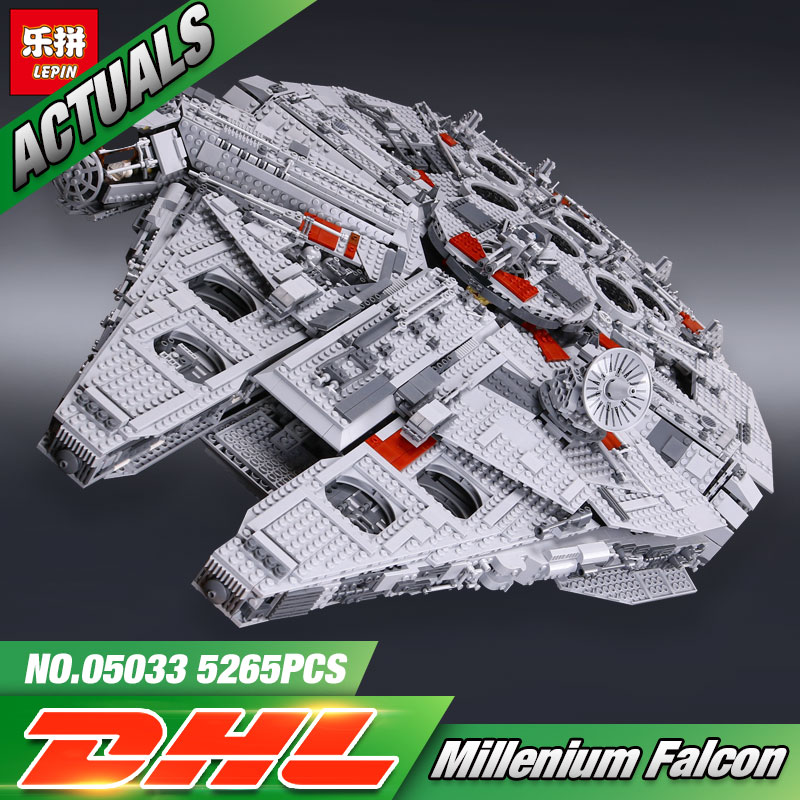 DHL Lepin 05033 5265Pcs Star Toys Wars The 10179 Millennium Toys Falcon Set Building Blocks Bricks New Kids Toys Christmas Gifts