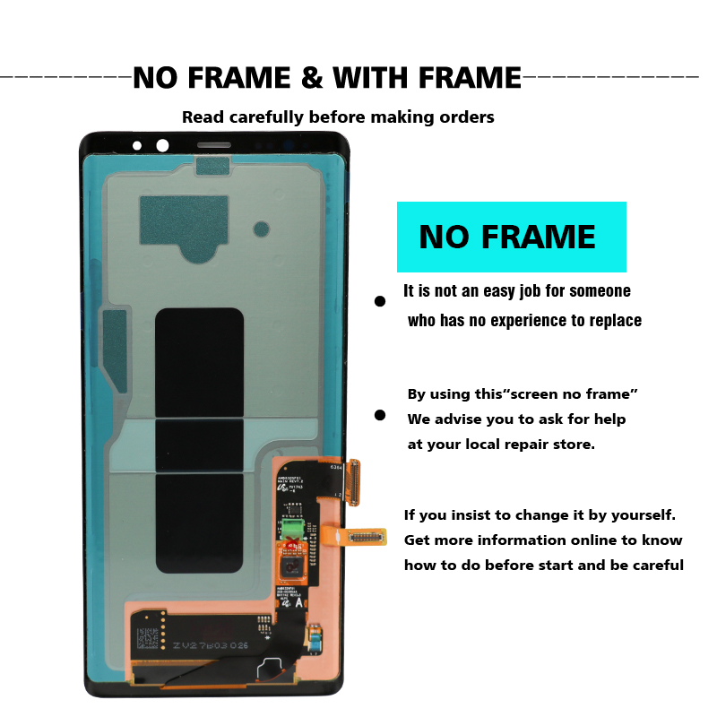100% SUPER AMOLED 6.3'' LCD with Burn-Shadow LCD for SAMSUNG Galaxy Note8 N9500 N950F N900D N900DS LCD Touch Screen Digitizer