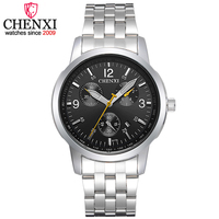 CHENXI Brand Luxury Casual Date Function Men Watches Simple Waterproof Watch Male Top Fashion Full Steel