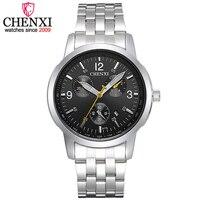 CHENXI Brand Luxury Casual Date Function Men Watches Simple Waterproof Watch Male Top Fashion Full Steel