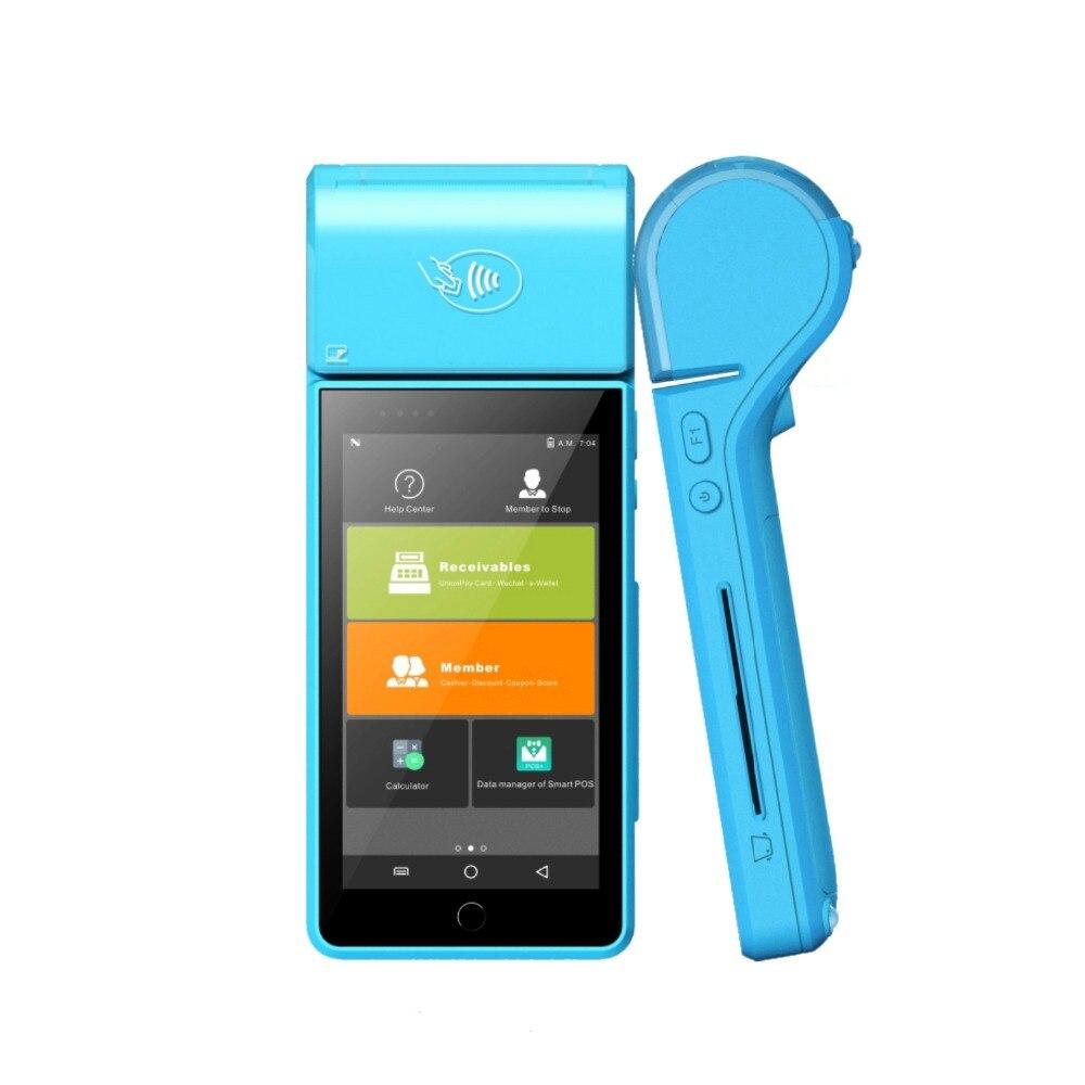 Livraison Gratuite 5 Écran Tactile Portable Paiement Électricité Système 4G NFC De Poche Android 7.0 POS Terminal Pour L'hôpital détaillant