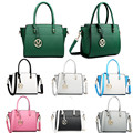 Miss Lulu Women Classic Handbag M Metal Letter PU Leather Bag LT1625