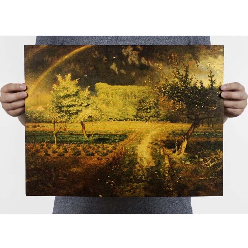 Ностальгия и ретро картина маслом ретро постер винтажный плакаты живопись Ретро плакат, крафт-бумага кафе домашний декор наклейка на стену - Цвет: 105