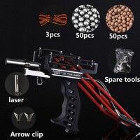 Laser Slingshot High Velocity Elastic Hunting Fishing Slingshot Shooting Catapult Bow Arrow Rest Bow Sling Shot
