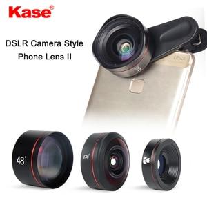Image 2 - طقم عدسات هاتف بنمط كاميرا DSLR 4 في 1 من Kase II بزاوية واسعة/ماكرو/عين السمكة/عدسة تليفوتوغرافي للهواتف الذكية iPhone 8 سامسونج وهواوي