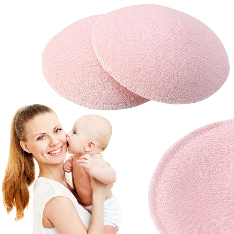 2pcs Mommy Nursing Pad Washable Breast Pads Spill Prevention Breast Feeding