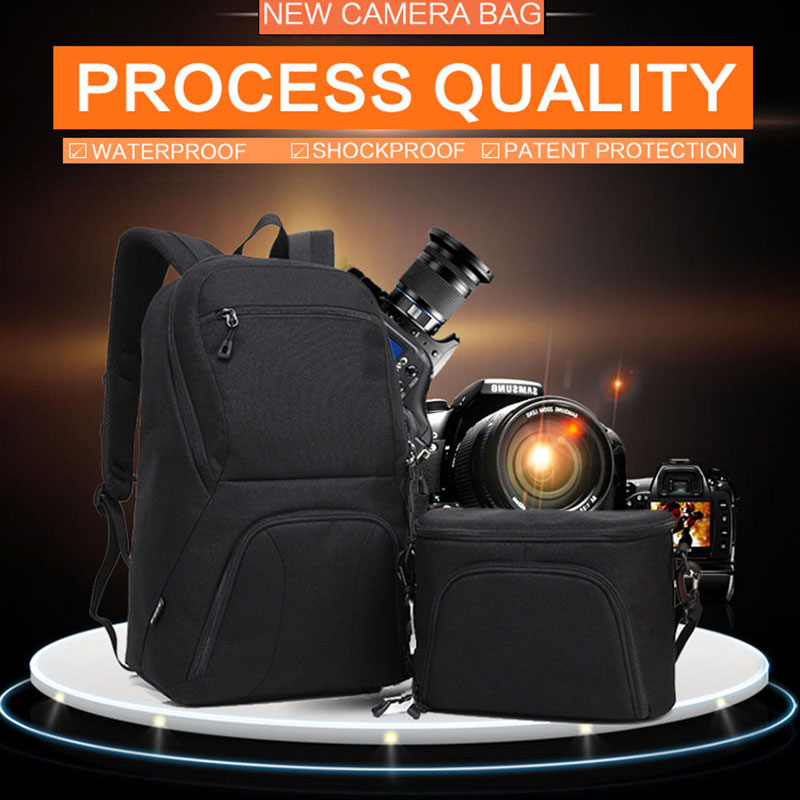 HuWANG 2 in 1 Backpack For Camera Tablet PC DSLR Camera Bag Lens Pouch For Max