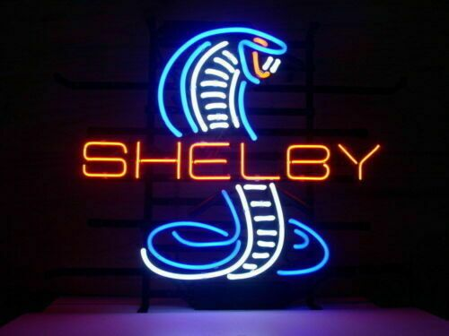 Custom Made Shelby Glass Neon Light Sign Beer Bar