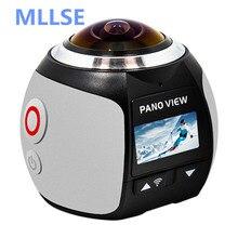 Promo offer MLLSE 360 Video Camera 4K WiFi Sport Action Camera 16MP 3D VR Cam DVR Mini Waterproof Digital Camara Camcorder Deportiva Kamera